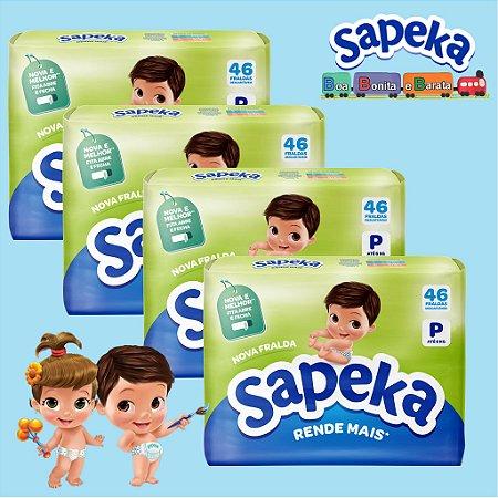 Kit Fralda Descartáveis SAPEKA - PQ -184- Unids - Leve 4 / Pague 3