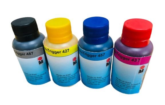 Tinta Sublimática Marabu TEX TRIGGER - Frasco 100ml