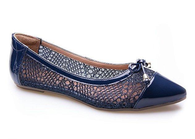 Sapatilha Neftali Comfort Tricô Azul