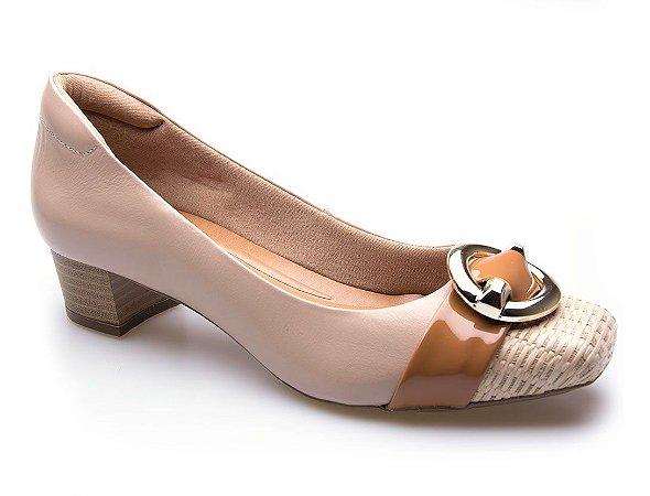 Sapato Neftali Comfort Fivela Nude