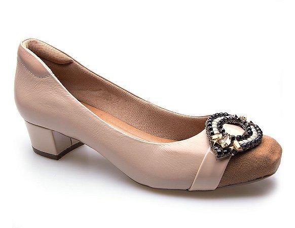 Sapato Neftali Comfort Enfeite Nude