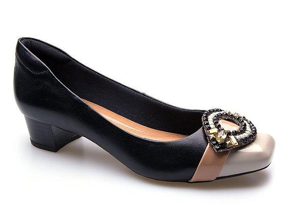 Sapato Neftali Comfort Enfeite Preto