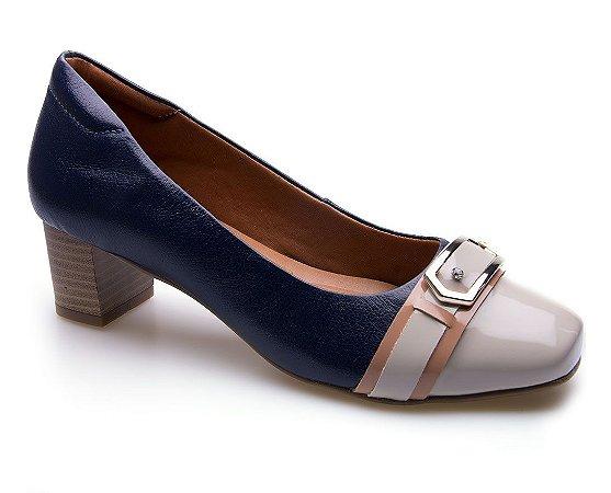 Sapato Neftali Comfort Fivela Marinho
