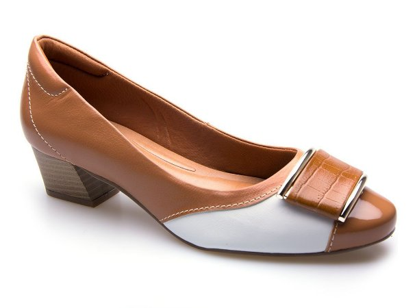 Sapato Neftali Comfort Fivela Caramelo