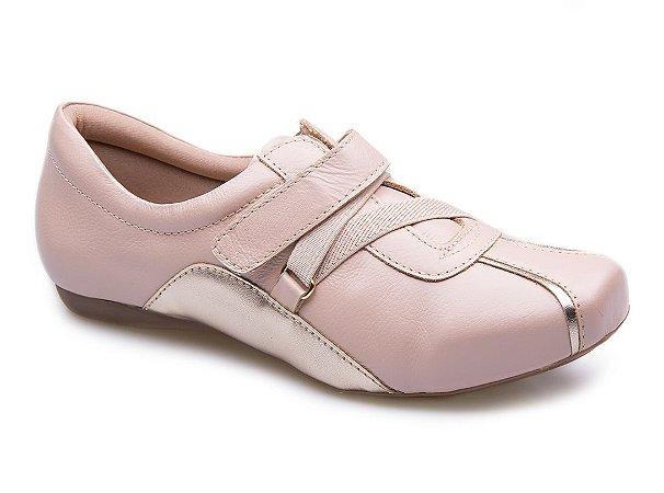 Tênis Neftali Comfort Velcro Nude