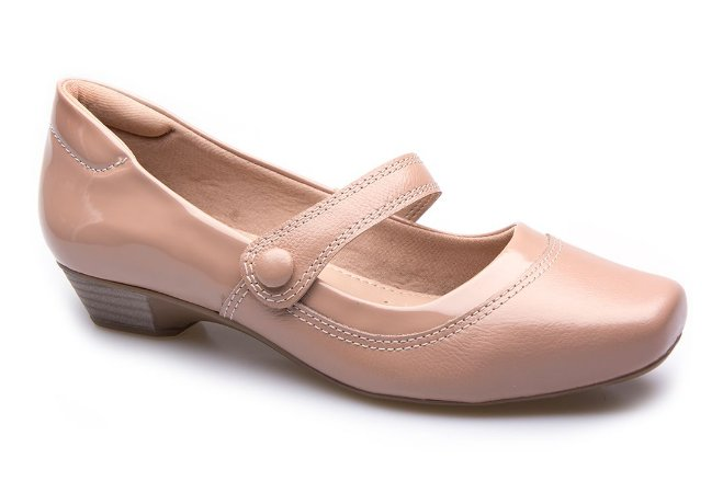 Sapato Neftali Comfort Botão Sand