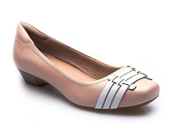 Sapato Neftali Comfort - Nude / Branco
