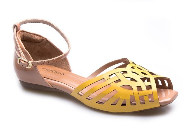 Sandália Neftali Comfort Laser Amarelo Citrus