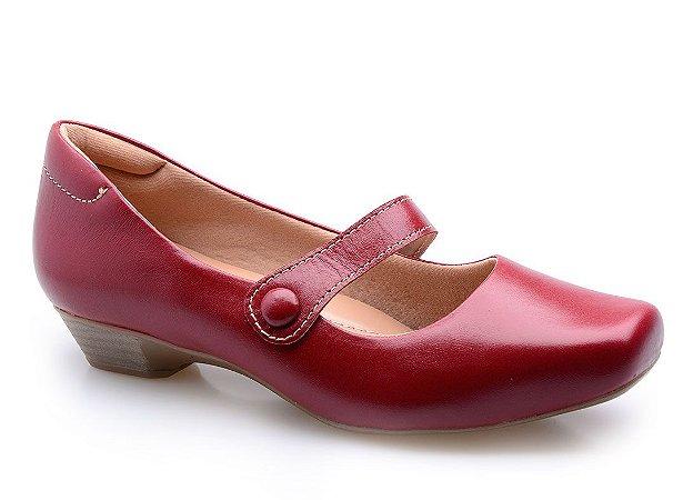 Sapato Conforto Boneca Vermelho