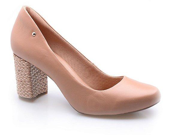 Sapato Neftali Comfort Avelã Salto Trança