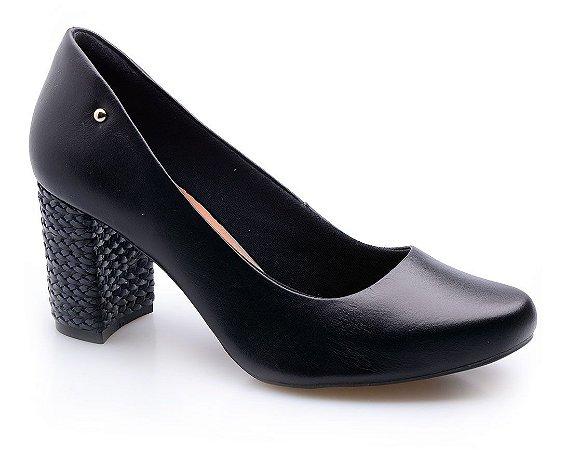 Sapato Neftali Comfort Preto Salto Trança