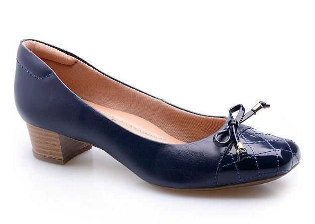 Sapato Neftali Comfort Laço Marinho