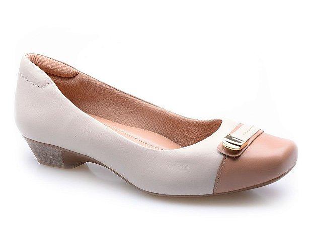 d7523cb79 Sapato Neftali Comfort Enfeite Off-White - Altine | Calçados ...