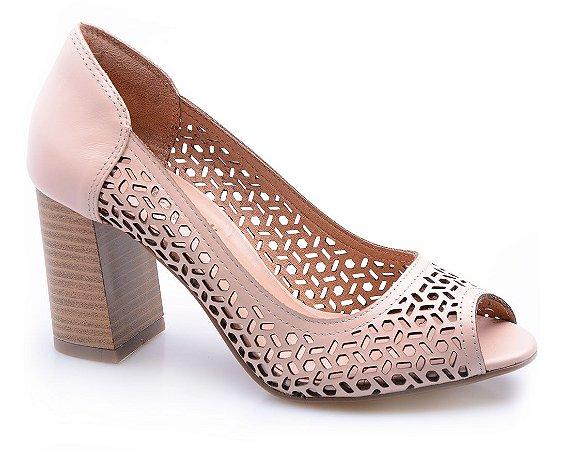 Sapato Neftali Comfort Laser Nude