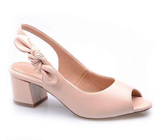 22349c0e4 Peep Toe Neftali Comfort Nó Nude - Altine | Calçados Femininos Online