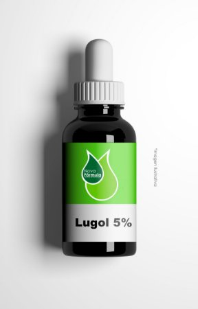 LUGOL 5% (IODO INORGÂNICO) - 30ML - FRASCO ANTI-VAZAMENTO