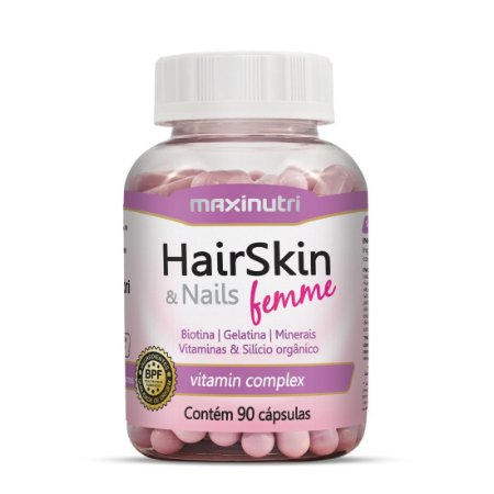 HAIR SKIN & NAILS FEMME 90 CÁPSULAS MAXINUTRI
