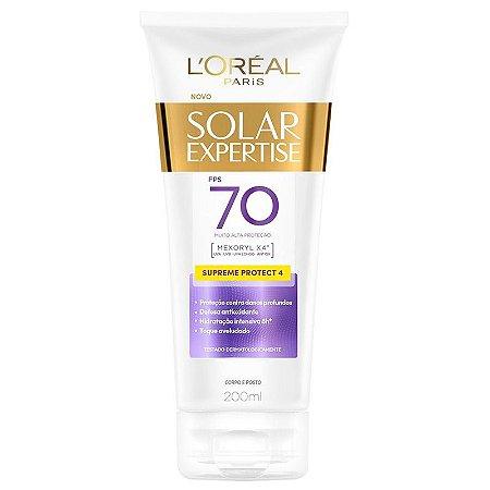 Protetor Solar L'Oréal Paris Solar Expertise Supreme Protect 4 FPS 70 Loção 200ml