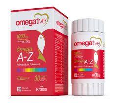 Omegative A Z - Omega 3 com Vitaminas e Minerais com 30 Cápsulas