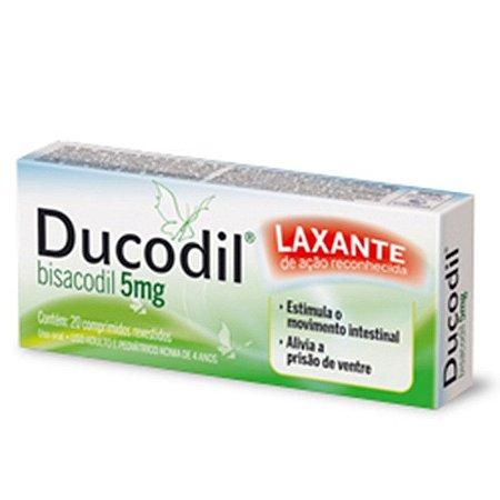 Bisacodil - Ducodil 5mg 20 Comprimidos