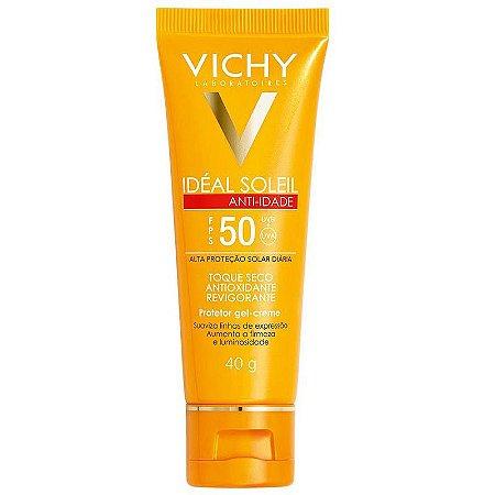 Protetor Solar Idéal Soleil Vichy Anti-Idade FPS 50 40 Gramas