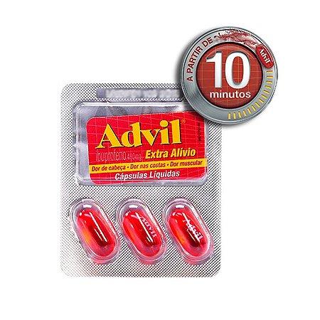 Advil Extra Alívio 400mg com 3 Cápsulas