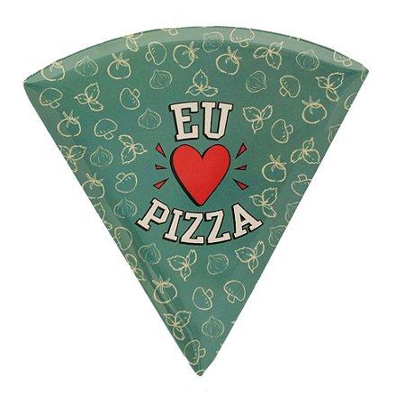 Prato de Pizza Azul