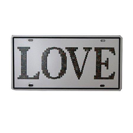 Placa Decorativa Love