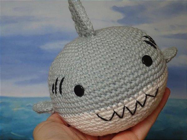 Tubarão Amigurumi
