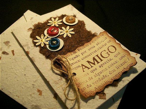 Kit Cartões Comemorativos - TEMA AMIGO - kit com 05 cartões