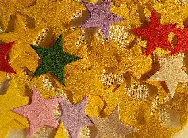 Estrela pequena para scrapbooking  - cores variadas