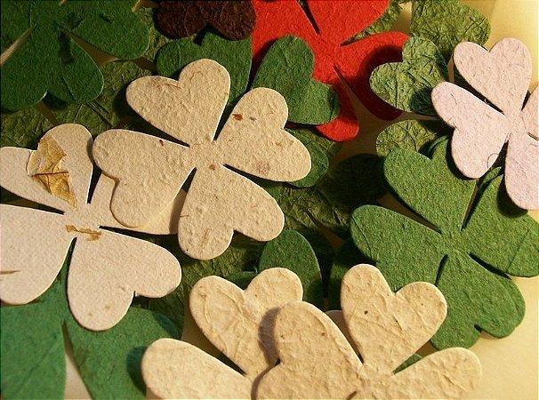 Trevo de quatro folhas para scrapbooking - cores variadas