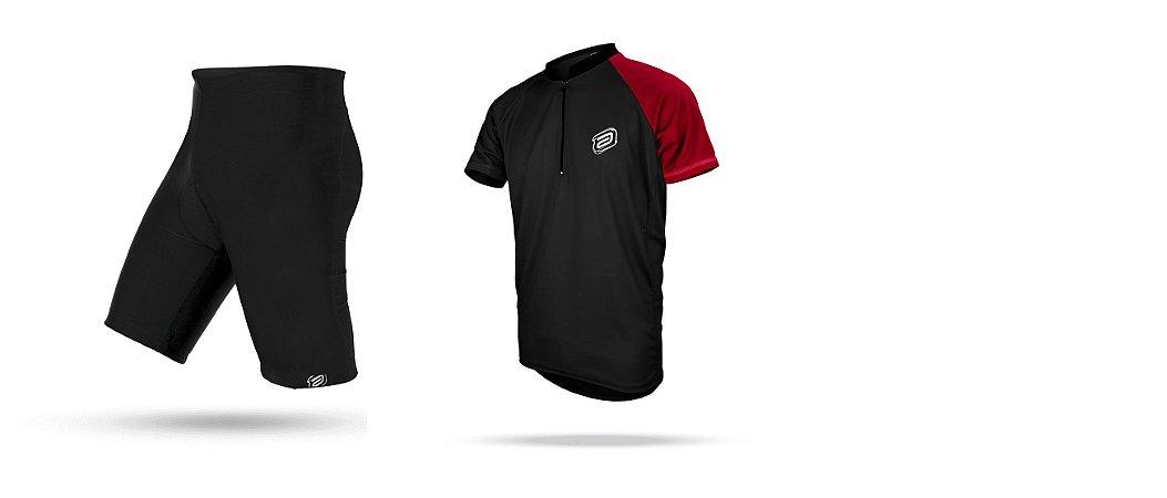 Conjunto Ciclismo Masculino Roupa Camisa Bermuda Asw 2019
