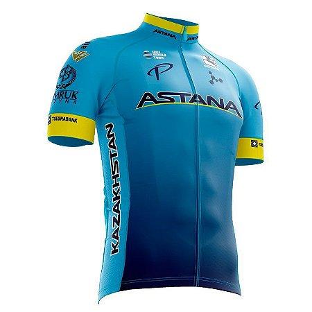 Camisa Ciclismo Refactor Astana Azul