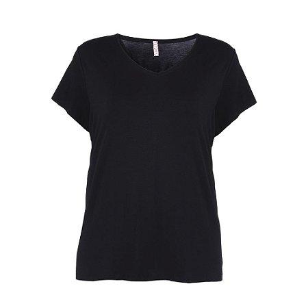 Blusa Plus Size Malha Preta