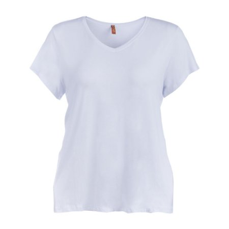 Blusa Plus Size Malha Branca
