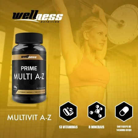 MULTI A Z - 120CAPS - WELLNESS NUTRITION