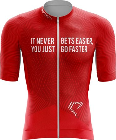 Camisa de Ciclismo - Divine in Red