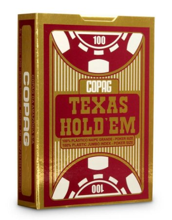Baralho Copag Texas Holdem Vermelho 100% Plástico