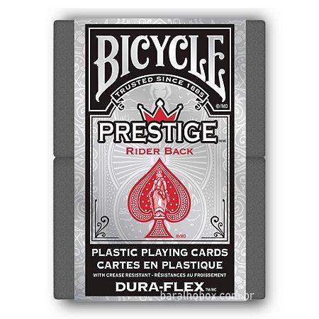 Baralho Bicycle Prestige Dura-Flex 100% Plástico Vermelho