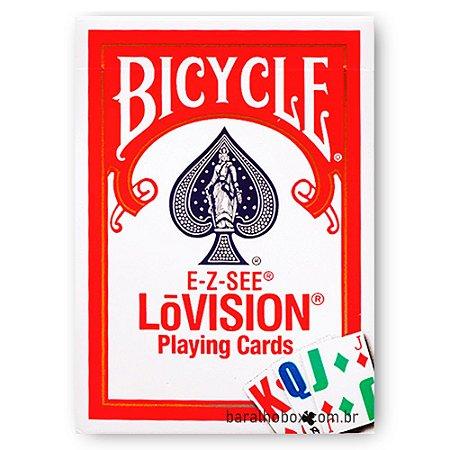 Baralho Bicycle E-Z-SEE LoVision Vermelho