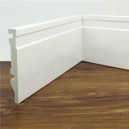 Rodapé de Poliestireno Frisado Branco 10 cm