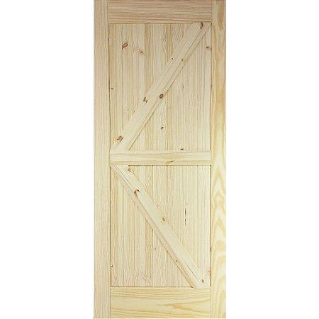 Porta De Madeira De Correr Tipo Celeiro Modelo K 81cmx2,13m