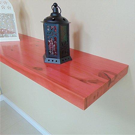 Prateleira de Madeira e Flutuante Sólida Rusty 95 cm Rosa