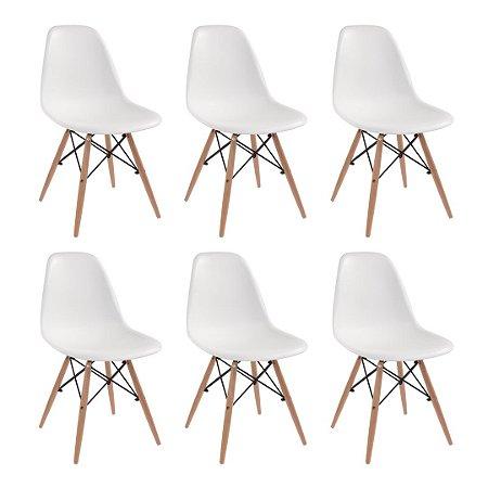Jogo De Cadeira Eiffel 6 Cadeiras Brancas