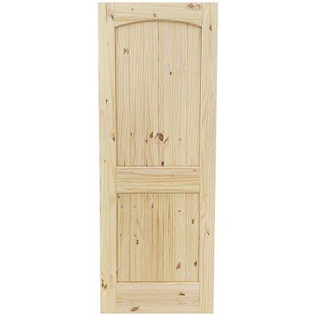 Porta De Madeira Interna Goede 2 Painéis Arco Em Pinus 81 X 203 cm