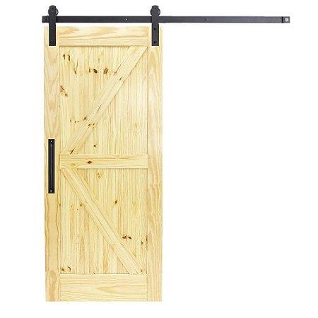 Porta De Madeira De Correr Celeiro K Goede Verniz 100x220 Cm