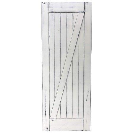 Porta de Correr Tipo Celeiro Z Vintage Goede Branco 110 x 220 cm