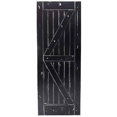Porta de Correr Tipo Celeiro K Vintage Goede Preto 91 x 213 cm