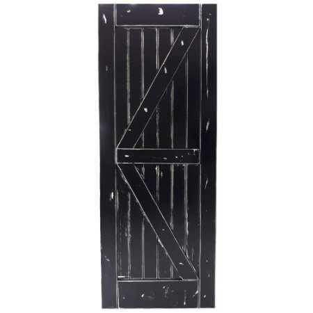 Porta de Correr Tipo Celeiro K Vintage Goede Preto 110 x 220 cm